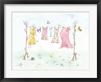 Framed Cherry Blossom Laundry Day