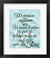 Framed God Moves in a Mysterious Way