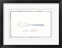 Kitchen Wire Whisk Framed Print