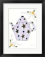 Framed Lavender Teapot