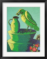 Topiary Crow with Jug Framed Print