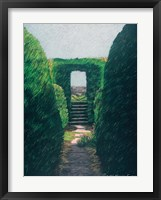Topiary Pathway Framed Print