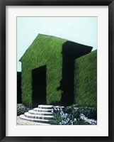 Topiary Peaked Arch Framed Print