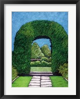 Topiary Round Arch Framed Print