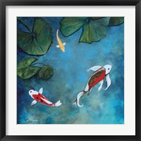 Framed Enchanted Koi Trio