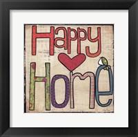 Happy Home Framed Print
