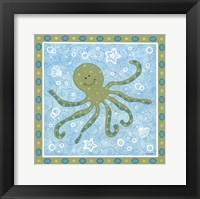 Beetle & Bob Baby Squid Framed Print