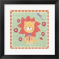 Beetle & Bob Happy Lion Framed Print
