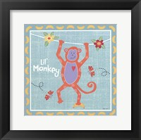 Beetle & Bob Happy Monkey Framed Print