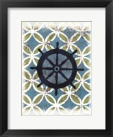 Coastal Patterns II Framed Print