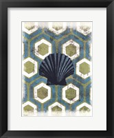 Coastal Patterns I Framed Print