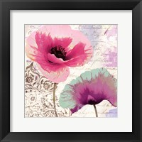 Poppies And Paint II Framed Print