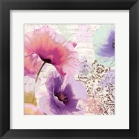 Poppies And Paint I Framed Print