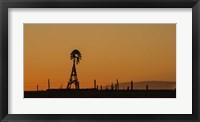 Framed Windmill Sunset