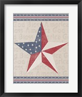 Framed Barn Star