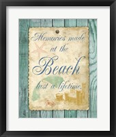 Beach Notes I Framed Print