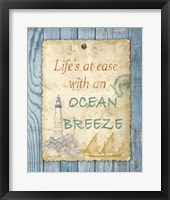 Beach Notes II Framed Print
