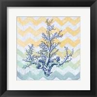 Chevron Coral Framed Print