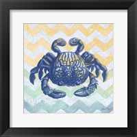Sea Creatures - Crab Framed Print