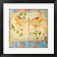 Framed Aqua Dreams Dragonfly