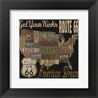 Framed Route 66 - American Dream Kicks
