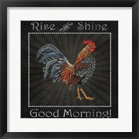 Good Morning Rooster I Framed Print