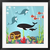 Under The Sea II Framed Print