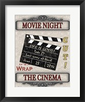 Movie Night - Light I Framed Print