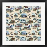 Route 66 Landmarks I Framed Print