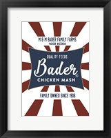 Framed Chicken Mash Feed Sack Two