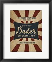 Framed Chicken Mash Feed Sack