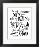 Framed Cover You With Feathers