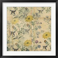 Floral Collage Layered Papers Framed Print