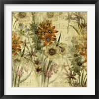Floral Collage Music Framed Print