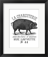 Framed French Pig