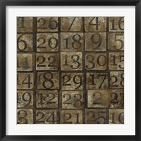 Grungy Number Blocks Framed Print