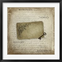 Framed Memories With Tag Key