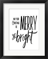 Framed Merry Bright