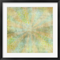Framed Teal Sunburst Grunge