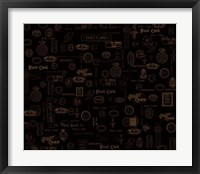 Vintage Postage Black Framed Print