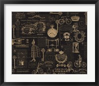 Vintage Steampunked Framed Print