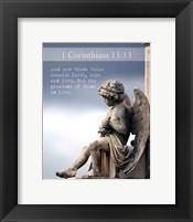 Framed 1 Corinthians 13:13 Faith, Hope and Love (Statue)
