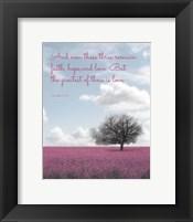 Framed 1 Corinthians 13:13 Faith, Hope and Love (Field)