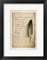 Framed John 6:35 I am the Bread of Life (Sepia)