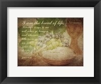 Framed John 6:35 I am the Bread of Life (Grapes)
