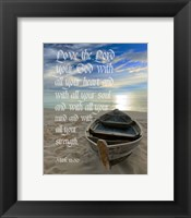 Framed Mark 12:30 Love the Lord Your God (Boat)