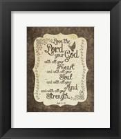 Framed Mark 12:30 Love the Lord Your God (Bird)