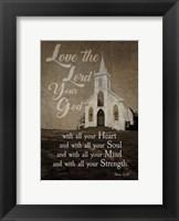 Framed Mark 12:30 Love the Lord Your God (Church)
