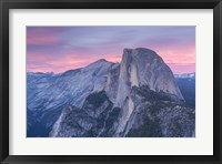 Framed Mountian Top at Sunset