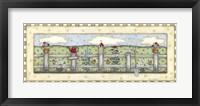 Fenceline Flowers Framed Print